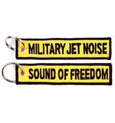 Brelok / Zawieszka do kluczy - MILITARY JET NOISE - SOUND OF FREEDOM - Żółty