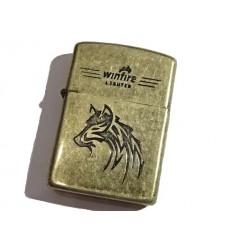 Winfire - Zapalniczka benzynowa / klasyczna - WOLF - Light Bronze