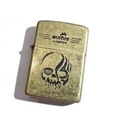 Winfire - Zapalniczka benzynowa / klasyczna - SKULL - Light Bronze