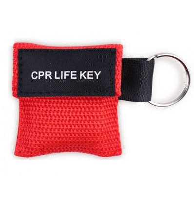 CPR LIVE KEY - Maseczka do resustytacji / sztuczne oddychanie - Brelok etui - Czerwony