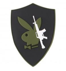 101 Inc. - Naszywka PLAYBOY GUN - 3D PVC