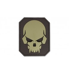MIL-SPEC MONKEY - Naszywka Pirateskull Large - PVC - Desert