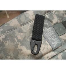 Mil-Tec - Trok z metalowym karabinkiem - 70mm - Czarny