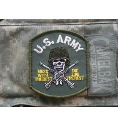 FOSTEX - Naszywka US Army Skull - Zielony