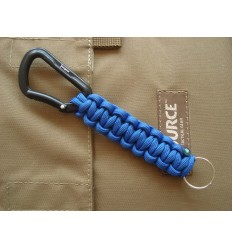 MALAMUT - Brelok surwiwalowy Cobra - Karabinek / Paracord 1,3m (Made USA) - Military Blue