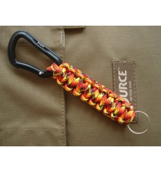 MALAMUT - Brelok surwiwalowy Cobra - Karabinek / Paracord 1,3m (Made USA) - Fire Ball