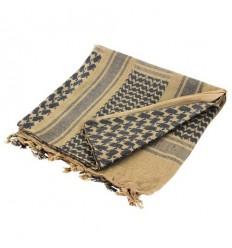 Condor - Arafatka Shemagh - 100% Cotton - Coyote Brown/Czarny