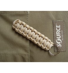 MALAMUT - Brelok surwiwalowy do kluczy Gekon - Paracord 1,4m (Made USA) - Military Tan