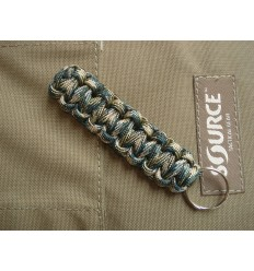 MALAMUT - Brelok surwiwalowy do kluczy Gekon - Paracord 1,4m (Made USA) - Forest Camo