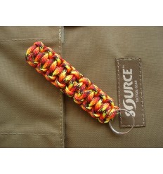 MALAMUT - Brelok surwiwalowy do kluczy Gekon - Paracord 1,4m (Made USA) - Fire Ball