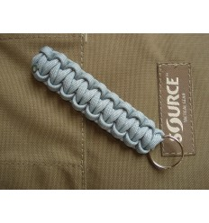 MALAMUT - Brelok surwiwalowy do kluczy Gekon - Paracord 1,4m (Made USA) - Military Grey