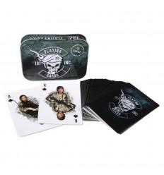 101 Inc. - Klasyczne karty do gry - Metalowe pudełko / Motywy militarne