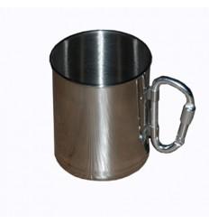 Fosco - Kubek stalowy / turystyczny z karabinkiem - 260ml