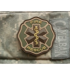 Mil-Spec Monkey - Naszywka Fire Rescue - 3D PVC - MultiCam