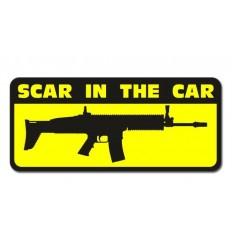 KAMPFHUND - Naklejka SCAR In The Car - Na szybę